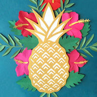 Faire-part Ananas